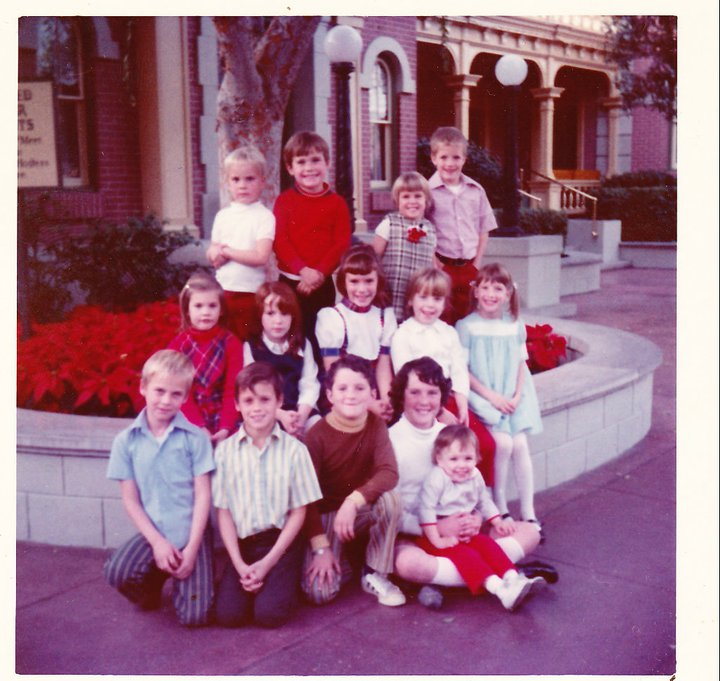 All of the kids at Disneyland - 1972