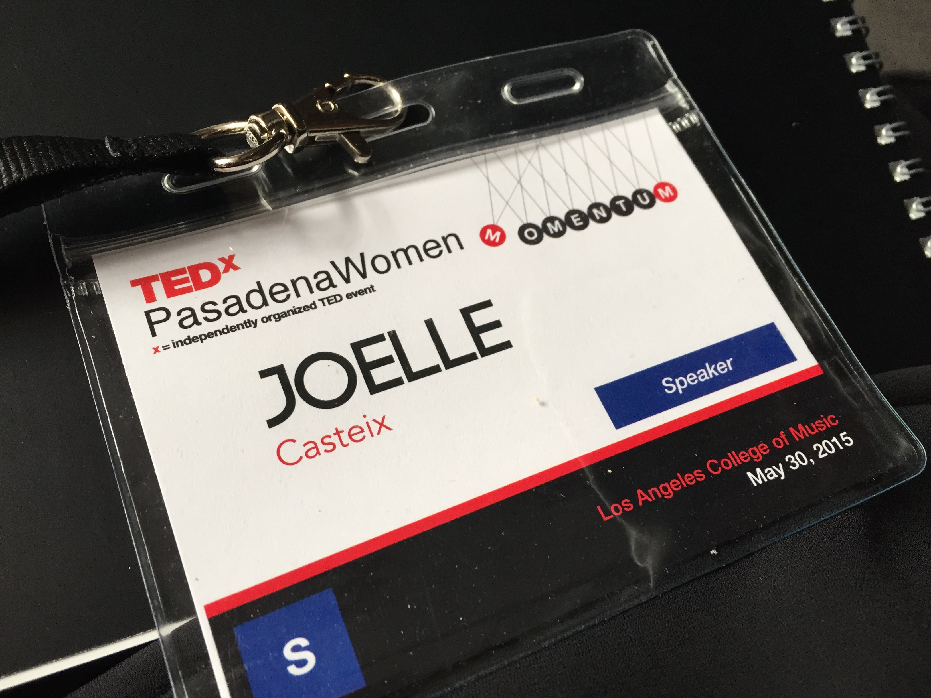 """My name tag said """"speaker."""" I guess I didn't just imagine this whole thing."""
