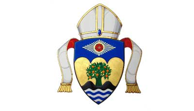 The crest of the Diocese of Orange. Now grab the oils, it's time for some sexual healing ...
